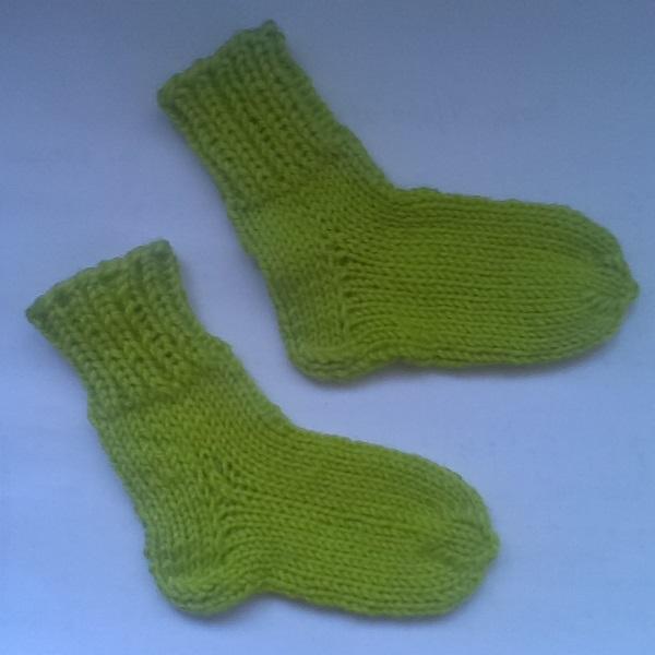 Вязание носок для детей до 1 года